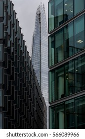 Modern buildings in the hearth of London City. Towers of glass and steel where thousand of people everyday works.