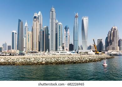 Modern Buildings At Marina District In New Dubai, UAE