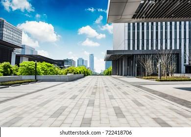 modern buildings at riverbank