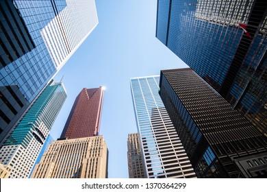 Modern buildings in Toronto city skyline, Canada