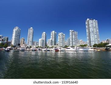 Modern buildings in Vancouver