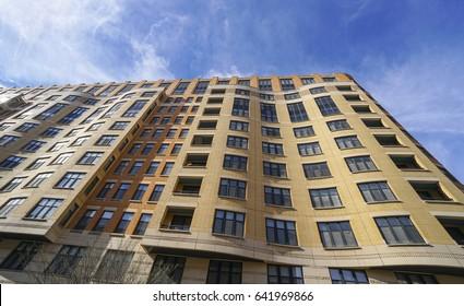 Modern buildings in Washington Chinatown - WASHINGTON DC / COLUMBIA - APRIL 7, 2017
