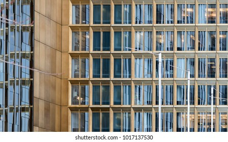 modern bulding architecture background with illuminated windows