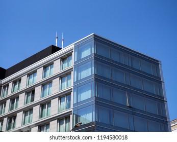 Modern business building - blue glass windows
