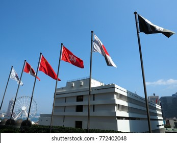 Modern business building with blue sky,shot in hong kong,asia