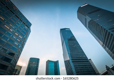 modern business center in Shanghai China.