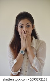 Modern Business Girl Surprise face