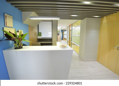 Modern business office reception