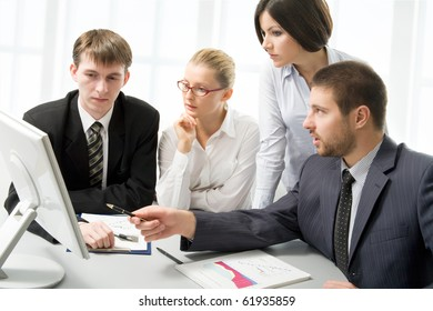 Modern business people working in the office