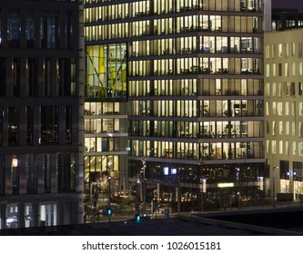 Modern business quarters of Oslo, Norway.