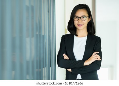 Modern business woman with confident in the office