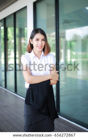 c50bf79ae8 Modern Business Women Casual Outfits Office Stock Photo (Edit Now ...