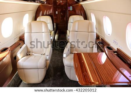 Strange Modern Cabin Midsize Jet Beige Chairs Stock Photo Edit Now Frankydiablos Diy Chair Ideas Frankydiabloscom