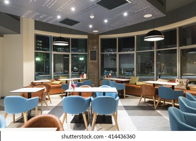 Modern canteen in office building