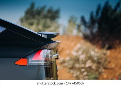 Modern car active aerodynamic wing spoiler