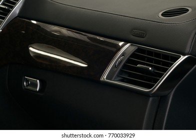 Modern car airbag panel. Air conditioning.