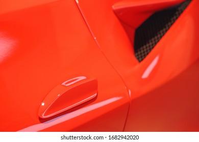 modern car design. close-up. bending lines avto.