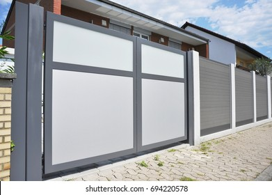 Modern Car Garage with automatic Door
