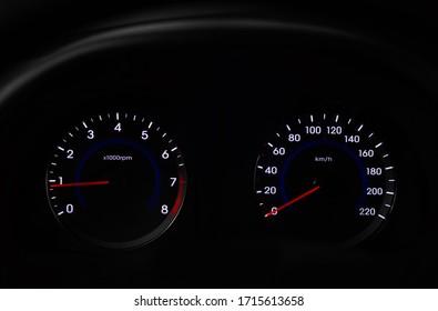 Modern car instrument panel dashboard
