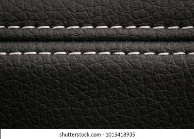 Modern car leather texture background. Interior detail.