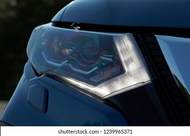 modern car led daytime running lights