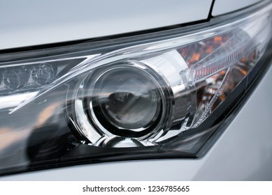 Modern Car light with LED and Xenon Technologies