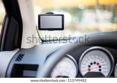 Modern Car Navigation System Mounted Car Stock Photo (Edit Now