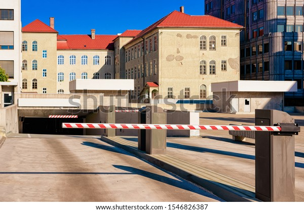 Modern Car Parking Barrier Great Design Stock Photo Edit Now 1546826387