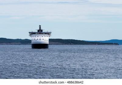 Modern car and passenger ferry ship