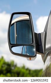 Modern car side double panel rear view mirror