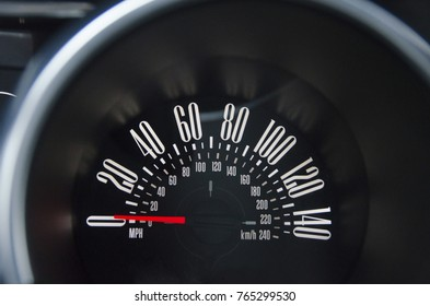 Modern car speedometer of the modern car