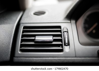 modern car ventilation system. Air conditioning of automobile interior