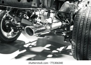 modern car's pipe object photo