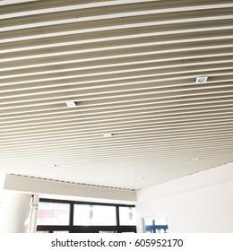 modern ceiling in office center.