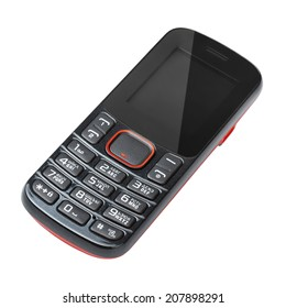 modern cell mobile phone isolated on white