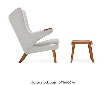 Modern Chair and Ottoman