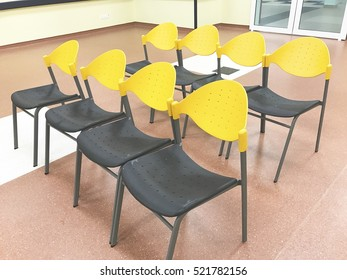 modern chair at waiting area