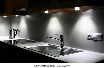 Modern chrome kitchen