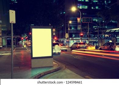Modern city advertising light boxes