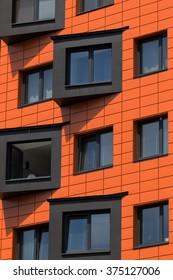 Modern city architecture in Prague, Czech Republic