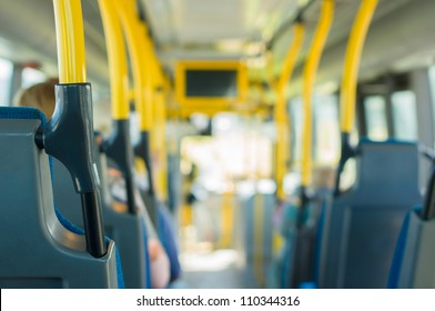 Modern city bus interior