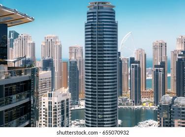 Modern city coast view
