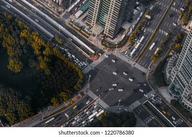 Modern City Crossroad, Shanghai China