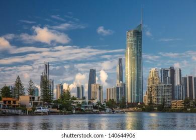 Modern city, daytime. (City of Gold Coast, Queensland, Australia)