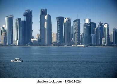 Modern city in Doha