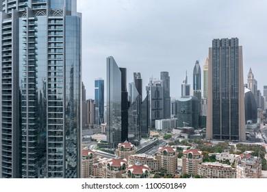 Modern City Downtown view