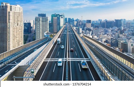 Modern city and freeway concept.