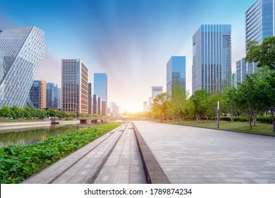 Moderner Stadtaufstieg, China Ningbo CBD.