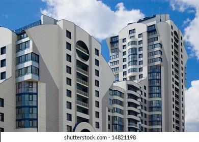 Modern city multistory house (recent development)