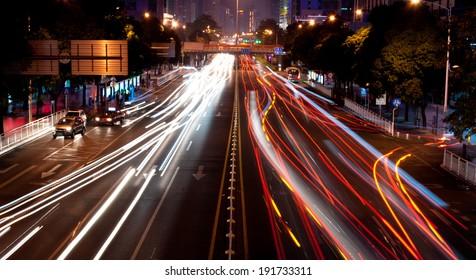 The modern city at night